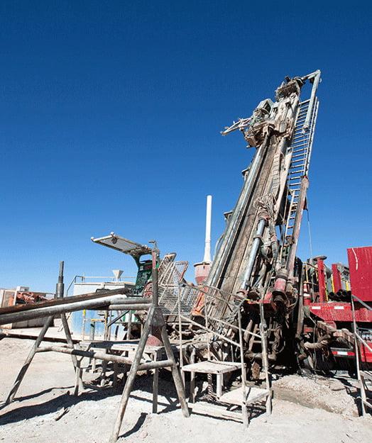 maquina usada para la exploración